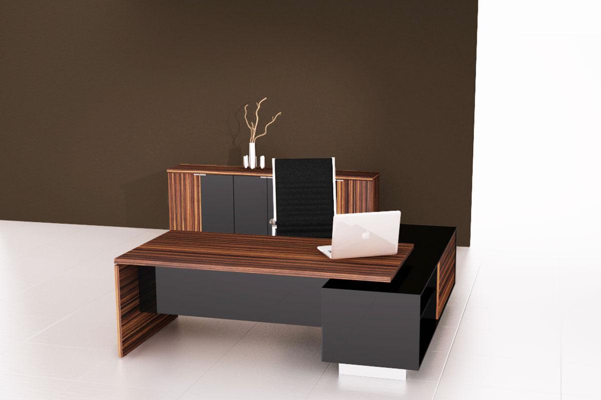Cube irodabútor, makassar - fekete.