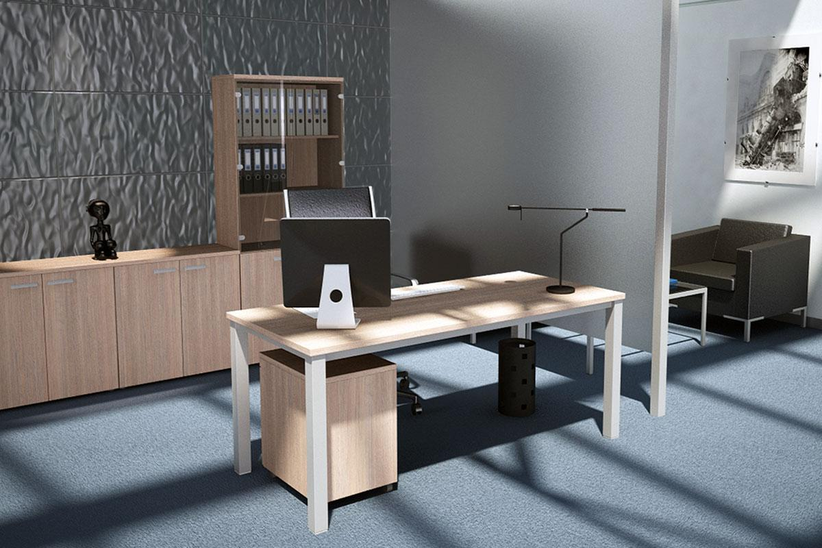Frame irodabútor, szögletes láb, winsor tőlgy.
